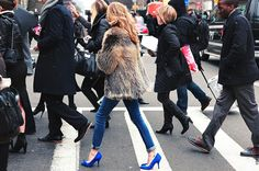 blue heels #streetstyle #fashion