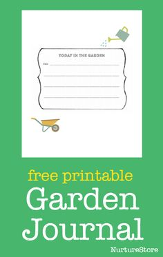 Free printable garden journal with ideas for creative writing, science, math, sketching, journalling, nature study and learning outdoors.