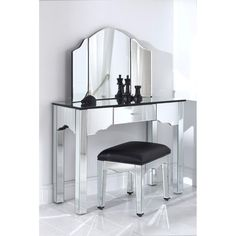 Glass Vanity Desk