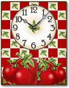 Item C9212 Vintage Style Tomatoes Clock