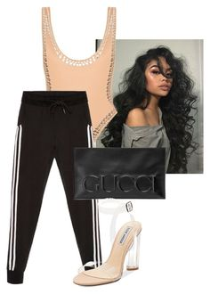 """""""Без названия #1027"""" by nextxxi ❤ liked on Polyvore featuring Norma Kamali, Gucci and Steve Madden"""