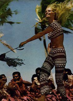 Vogue Magazine, January 1971 Fiji, ethnic outfit