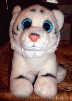 TY BEANIE BOOs Plush Toy 2012 White Bengal Tiger INDIA ~ Big Eyes  Ty 83a7b95da316