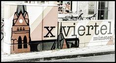Münster auf den 2. Blick : #Street Art im #Kreuzviertel. #Münster #Germany