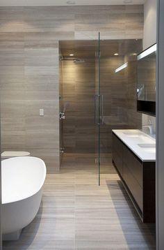 modern bathroom frameless shower doors freestanding bathtub vanity cabinet… | NEW Decorating Ideas | Bloglovin'