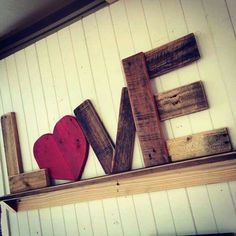 Love out of wood letters