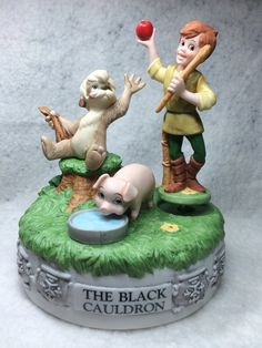 """The Disney Collection, Musical Memories """"The Black Cauldron"""" Musical Figurine Music Box Designed By The Walt Disney Artists on Etsy, $49.95"""