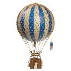 Franco Hot Air Balloon Decor in Blue//