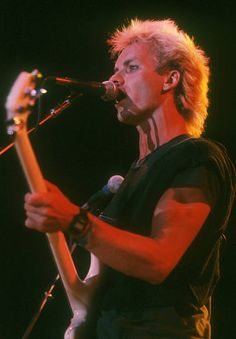 Sting with The Police on the 1983 Synchronicity tour (Photo © Michael Ochs Archives)
