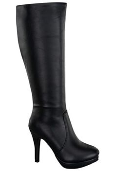 BLACK TALL FAUX LEATHER RUCHED STILETTO PLATFORM BOOTS,Women's Boots-Sexy Boots,Heel Boots,Over The Knee Boots,Platform Boots,Knee High Boots,High Heel Boots,Rider Boots,Combat Boots,Gladiator Boots,Suede Boots,Riding Boots,Flat Boots,Motorcycle Boots