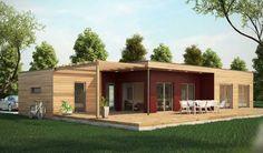 Maison bois 90 m², 3 chambres  49.90 les plans