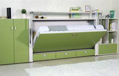 A única dobra horizontal para fora espaça o MDF moderno de salvamento da cama E1 da parede para crianças
