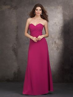 It comes in amethyst and that color seems to match lapis the best. Another simply elegant dress