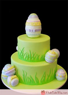 Easter Egg Cake – Happy Easter! by Pink Cake Box