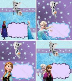 Frozen Girl Food Labels - Frozen Birthday - Frozen Party - Frozen Tent Cards