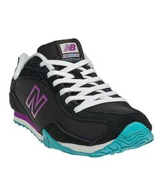 Take a look at this New Balance Black & Purple 442 Sneaker - Women on zulily today!