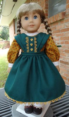 Fall Prairie Dess and Pinafore with Pantalettes for AG Kirsten by Designed4Dolls via Etsy  $29.95