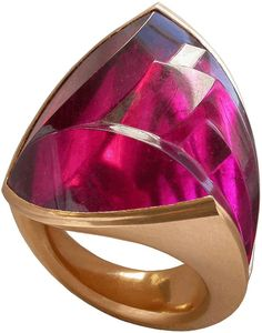 Tulip Ring, 2003  Tourmaline, 22ct red gold by Charlotte de Syllas