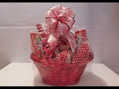 How To Make A Gift Basket - Valentine's Day Basket Demonstration - YouTube