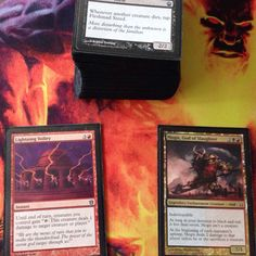 I'm replacing two lands with these; I notice that I've been mana flooded. #MTG #MagicTheGathering #gaming #games #cards