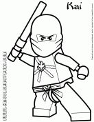 Cartoon Network Ninjago Kai Coloring Page