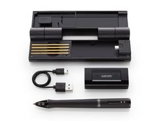 The Inkling by WACOM. Makes it possible to download your artwork onto a computer.