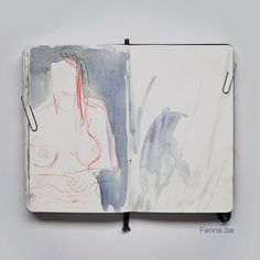 Fenne.be Moleskine sketch of model drawing session.