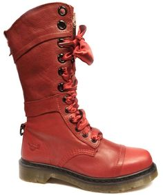 Dr Martens - Triumph Red Leather Ladies Boot 1914 - AL03