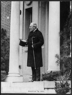 Armistice Day, 1922 - Woodrow Wilson standing in the doorway of his home
