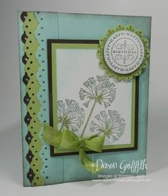 Happiest Birthday Wishes : (Dawns stamping thoughts Stampin'Up! Demonstrator Stamping Videos Stamp Workshop Classes Scissor Charms Paper Crafts)