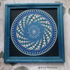 El original. Aire de Mandala. Mandala en lienzo y enmarcado en