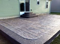 Real Help Custom Concrete Company of Buffalo and Western New York is local, licensed, and insured. We specialize in all flatwork. View our stamped concrete gallery! Poured Concrete Patio, Stamped Concrete, Backyard Patio, Barn Wood, Brown And Grey, Buffalo, Outdoor Decor, House, Ideas