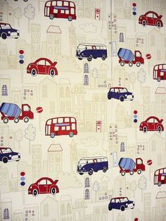 Kids wallpaper with trucks, cars, and more.