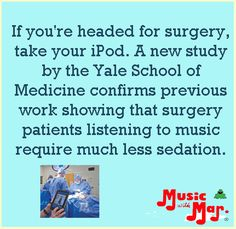 iPods and surgery