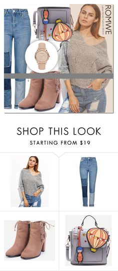 """Romwe 5"" by mini-kitty ❤ liked on Polyvore featuring Topshop, Burberry and romwe"