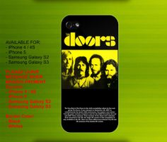 The Doors and Jim Morrison case for iPhone 4/4S iPhone 5 Galaxy S2/S3 #iPhonecase #iPhoneCover #3DiPhonecase #3Dcase #S4 #s5 #S5case