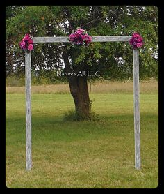 Rustic Wood Wedding Arch/Wedding Arbor/Complete Kit For Indoor Or Outdoor Use/Country Wedding Backdrop/Weathered Gray/Shipping Included
