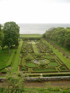 Dunrobin Castle Gardens, Scotland (British gardens or French gardens in Britain?)
