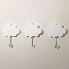 Cloud Hooks (Set of 3) - Coat Stands & Peg Rails - Storage - gltc.co.uk