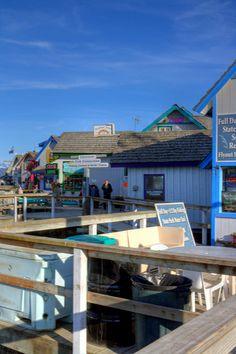 Shops on Homer Spit, Alaska