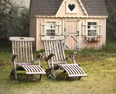Adorable rustic playhouse