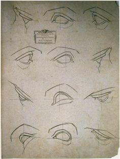 Bargue Drawing. eyes ✤ || CHARACTER DESIGN REFERENCES | キャラクターデザイン | çizgi film • Find more at https://www.facebook.com/CharacterDesignReferences & http://www.pinterest.com/characterdesigh if you're looking for: bandes dessinées, dessin animé #animation #banda #desenhada #toons #manga #BD #historieta #sketch #how #to #draw #strip #fumetto #settei #fumetti #manhwa #anime #cartoni #animati #comics #cartoon || ✤