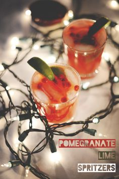 Pomegranate Lime Spritzers