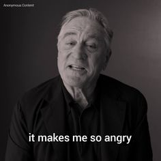 Robert De Niro went on an epic rant about Donald Trump, saying he wants to 'punch him in the face'.