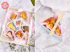 Bunte Kuchenplatte für ein to go, for To Go, Snacks, Gift Wrapping, Picnics, Gifts, Hands, Food, Friends, Cake
