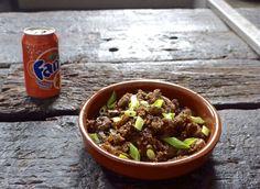 crispy beef with fanta sauce, aka 211 orange beef. It sounds weird but it's incredible...