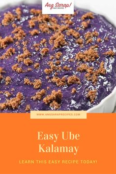 Learn about this easy recipe! - Ang Sarap Recipes - Learn about this easy recipe! Learn about this easy recipe! Pinoy Dessert, Filipino Desserts, Filipino Recipes, Asian Recipes, Sweet Recipes, Filipino Food, Ube Recipes, Dessert Recipes, Kalamay Recipe