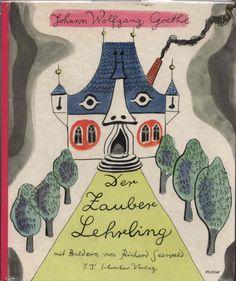 Richard Seewald, cover for Goethe, Der Zauberlehrling, 1959