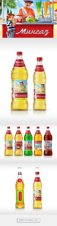 Mingaz Lemonades Redesign packaging design by Viewpoint l Branding agency - http://www.packagingoftheworld.com/2017/06/mingaz-lemonades-redesign.html - created via https://pinthemall.net