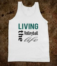 #Skreened Living The #Volleyball #Life #TankTop